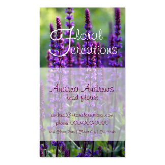 Florist Lilac Business Card