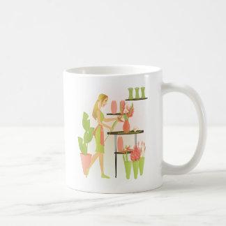 Florist-Peach Basic White Mug