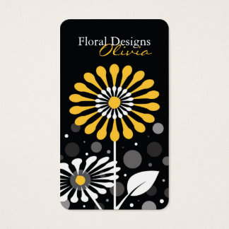 Florist Shop Yellow Flowers Business Card