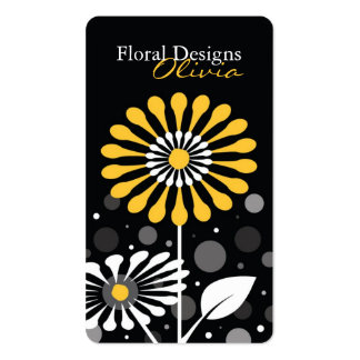 Florist Shop Yellow Flowers Pack Of Standard Business Cards