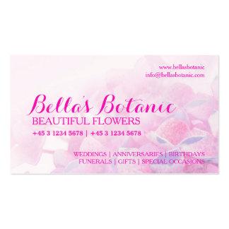 Floristry purple pink florist business cards