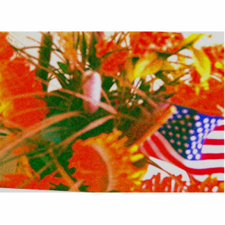 florz'n_a_Americanflag Sculpture Photo Sculpture Key Ring