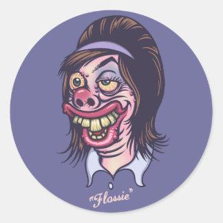 Flossie Round Stickers
