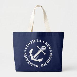 Flotilla Crew Beach Tote Jumbo Tote Bag