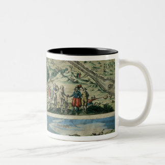 Flotilla of Admiral Joris van Spilbergen crossing Two-Tone Mug