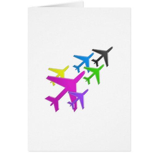 flotte d'avion cadeaux pour les enfants AEROPLANE Cards