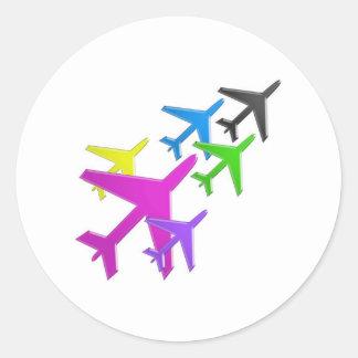 flotte d'avion cadeaux pour les enfants AEROPLANE Sticker