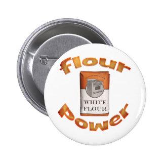 Flour Power Pinback Buttons