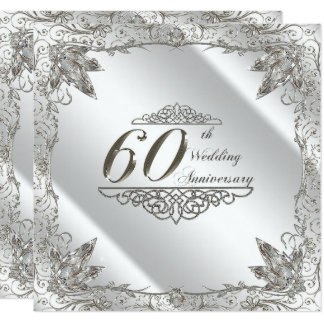 Flourish 60th Diamond Wedding Anniversary Invite