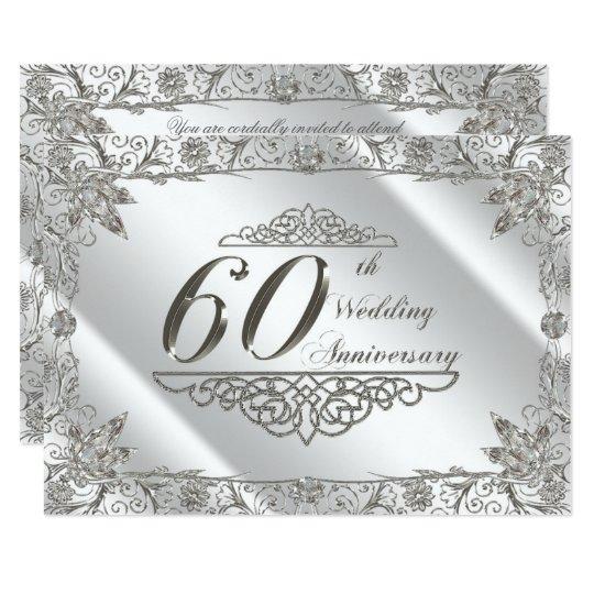 Flourish 60th Diamond Wedding Anniversary Invite