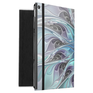 "Flourish Abstract Modern Fractal Flower With Blue iPad Pro 12.9"" Case"