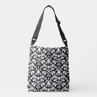 Flourish Damask 2Way Big Pattern Black & White Crossbody Bag