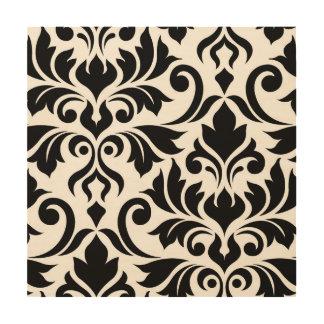 Flourish Damask Art I Black on White