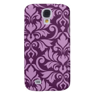 Flourish Damask Art I Pink on Plum Galaxy S4 Case