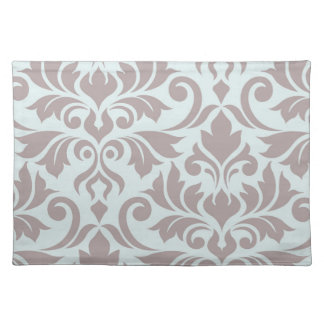 Flourish Damask Art I Taupe on Duck Egg Blue Placemat
