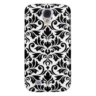 Flourish Damask Big Pattern Black on White Galaxy S4 Case
