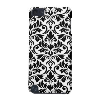 Flourish Damask Big Pattern Black on White iPod Touch 5G Cases