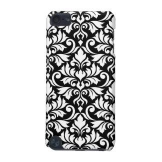 Flourish Damask Big Pattern White on Black iPod Touch (5th Generation) Case