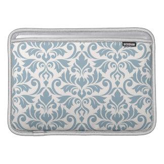 Flourish Damask Lg Pattern Blue on Cream Sleeve For MacBook Air