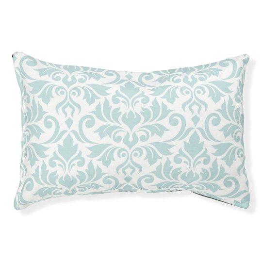 Flourish Damask Lg Pattern Duck Egg Blue on