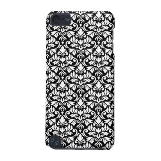 Flourish Damask Pattern White on Black iPod Touch 5G Cases