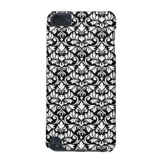 Flourish Damask Pattern White on Black iPod Touch (5th Generation) Cover