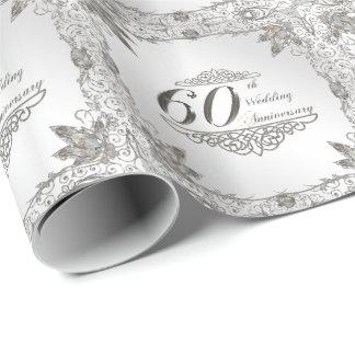 Flourish Diamond 60th Anniversary Wrapping Paper