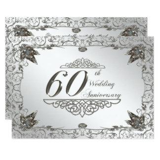 Flourish Diamond 60th Wedding Anniversary Invite