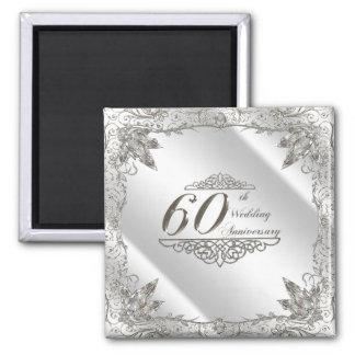 Flourish Diamond 60th Wedding Anniversary Magnet
