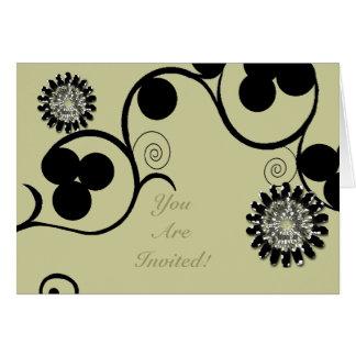 Flourish & Flower Invitation Greeting Card