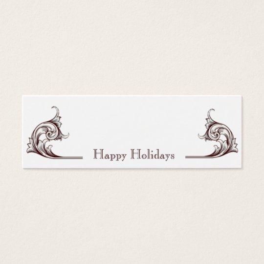 Flourish Happy Holidays Gift Tags