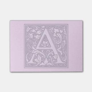flourish silver monogram - A Post-it Notes