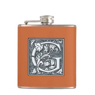 flourish silver monogram - G Flask