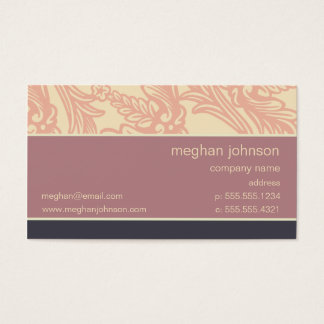 Flourish Soft Eggplant Chic Business Card Template