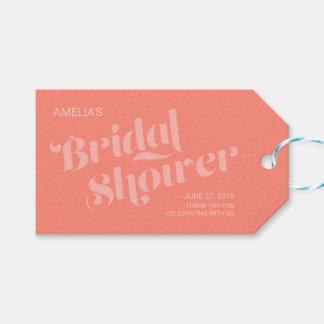 Flourish Typography Salmon Coral Bridal Shower