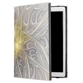 "Flourish With Gold Modern Abstract Fractal Flower iPad Pro 12.9"" Case"