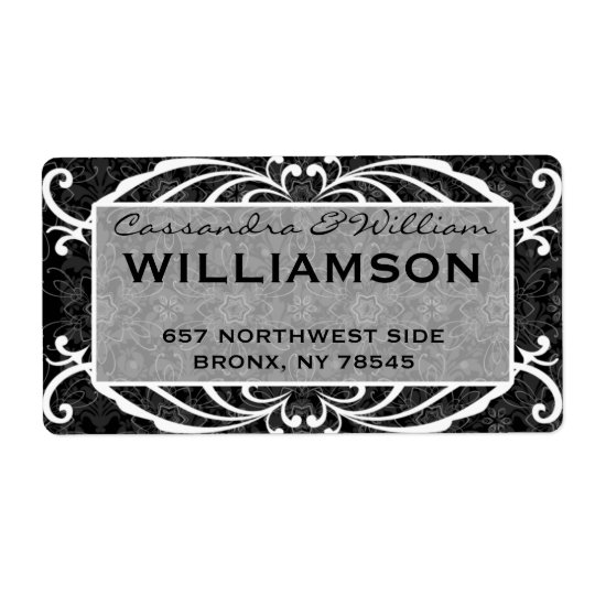 Flourishes and Damask Fancy Address Label
