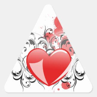 Flourishing Heart Triangle Sticker