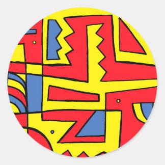 Flourishing Light Placid Super Round Sticker