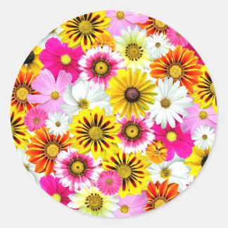 [FLOW-001] Flower power Round Sticker