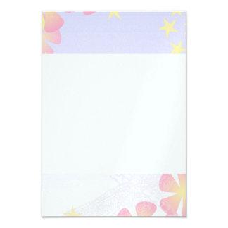 [FLOW-004] Dragonfly flowers 9 Cm X 13 Cm Invitation Card