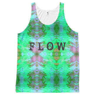 Flow Inked grunge All-Over Print Tank Top