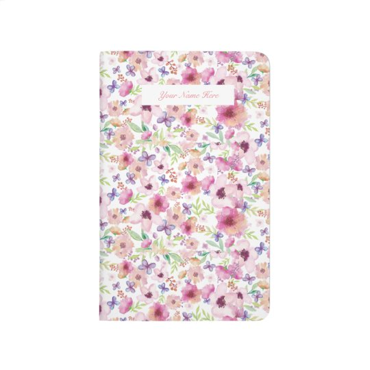 Flow - LONDON - Floral Personalised Pocket Journal