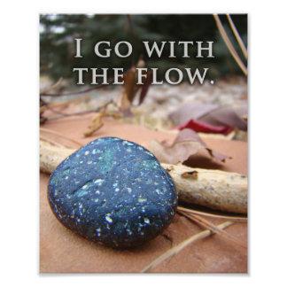 Flow Simple Zen River Stone Art Print Photo Print