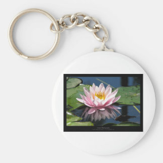 Flower 007 Water lily Basic Round Button Key Ring