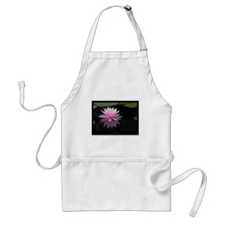 Flower 017 Pink Water Lily Adult Apron