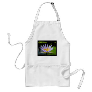 Flower 026 Blue Water Lily Adult Apron