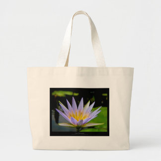 Flower 026 Blue Water Lily Jumbo Tote Bag
