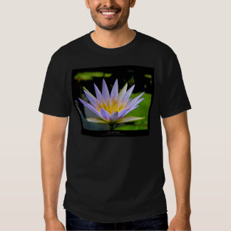 Flower 026 Blue Water Lily T-shirts