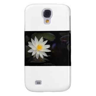 Flower 055 White Water Lily Galaxy S4 Case